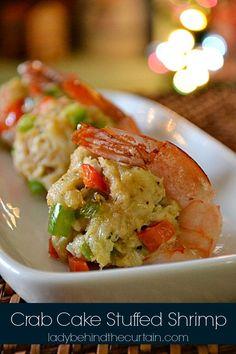 Crab Cake Stuffed Shrimp on http://MyRecipeMagic.com