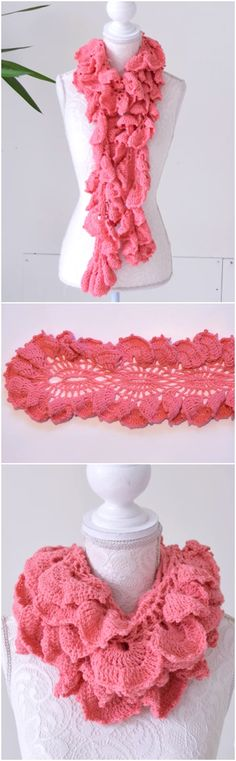 Crochet Long Scarf Step By Step