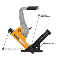 """BOSTITCH Flooring Tool The BOSTITCH Flooring Tool drives staples and cleat nails from to two"""" length. Flooring Tools, 2 In, Furniture, Decor, Decoration, Decorating, Home Furnishings, Dekorasyon, Dekoration"""