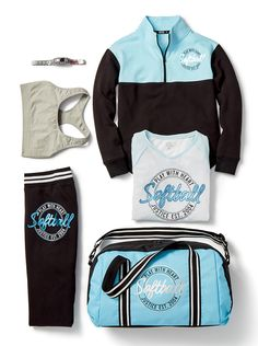 For the softball lover on your list, made-to-match activewear and accessories to help her knock it out of the park!