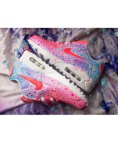 sports shoes d2097 0477b this Nike Air Max 90 Candy Pink Blue Trainers is popular .