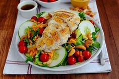 Copycat Culver's Chicken Cashew Salad is a quick and filling salad recipe. Simple and delicious.
