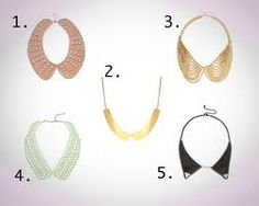 peter pan collar necklaces DIY