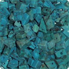 100 Medium Chips Blue Imitation Turquoise Gemstone Loose Beads 8-9mm On Sale at CDVDMart