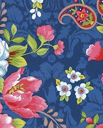 Tapet Pip Flowers in the Mix Dark Blue från Pip Studio