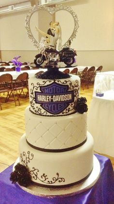 Harley Davidson wedding theme.