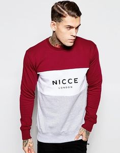Discover Nicce at ASOS. Shop our range of Nicce t-shirts, sweatshirts and jackets. Marken Logo, Casual Wear For Men, Casual T Shirts, Mens Sweatshirts, Outfit Sets, Models, Crew Neck Sweatshirt, London, Everyday Outfits