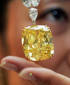 The Golden Eye Diamond 124.5 Carat Canary Diamond