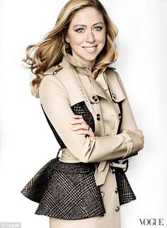 How Beautiful is she!!! Breaking her silence: Chelsea Clinton strikes a pose in Vogue as she opens up about marriage and future motherhood