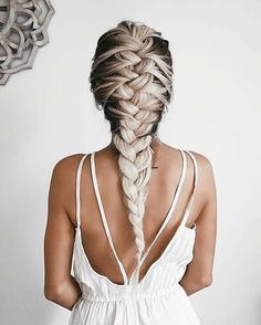 Sep 2018 - Beautiful braids that inspire my creativity. See more ideas about Long hair styles, Hair inspiration and Hair styles. Messy Hairstyles, Pretty Hairstyles, Brunette Hairstyles, Fashion Hairstyles, Dreadlock Hairstyles, Updo Hairstyle, Prom Hairstyles, Ash Blonde Hair Extensions, Hair Dos