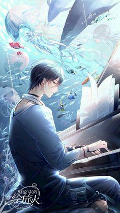 Anime Kunst, Anime Art, Pretty Boys, Cute Boys, Manga Boy, Anime Boys, Fantasy Art Men, Anime Music, Sea Art