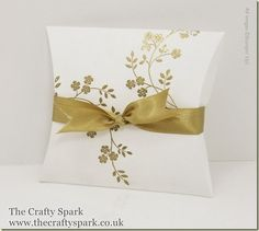 The Crafty Spark: Square Pillow Box Thinlits Dies from the Autumn/Winter Catalogue out on 1st September
