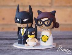 Cute superhero family, Batman + Catwoman  https://www.etsy.com/shop/GenefyPlayground