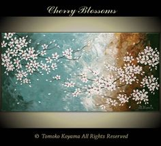 Original Impasto Abstract Art  Painting on  Gallery by TMKGallery, $199.00.  Pretty above you bed Amy D.