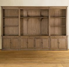 Home Library Large Family Rooms 45 Trendy Ideas Built In Media Center, Built In Entertainment Center, Tv Decor, Home Decor, Built In Bookcase, Bookcases, Large Family Rooms, Wooden Shelves, Room Shelves