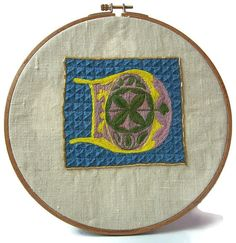 Traditional embroidery kit  Illuminated D by suislefil on Etsy