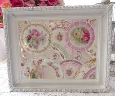 Another pretty mosaic for your #shabby decor. From our mosaic artist Suze ~ this is beautiful!!