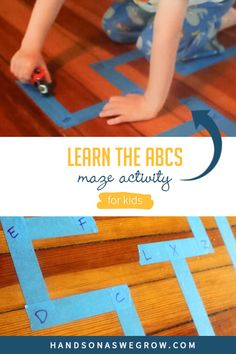 Get your toddler or preschooler up and moving to have fun learning letters. Kids learn best by moving and playing!