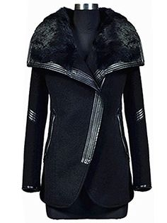 Acevog Women's Fur Collar Trench Thic... for only $24.99