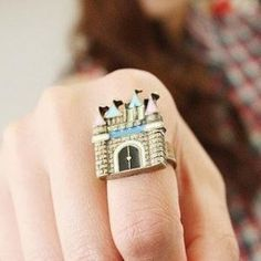 Castle Princess Ring Adjustable Fairy Tale Costume Fashion Jewelry
