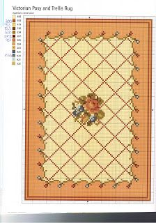 Victorian Posy and Trellis Rug