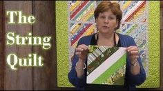 Quilting with scraps - Foundation Piecing to make the String Quilt! - YouTube