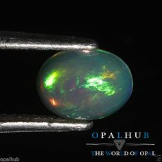 0.86  Cts 100% Natural Ethiopian Welo Fire Opal Cabochon Stone Play Color 4756