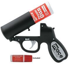 Mace Pepper Gun with Flashing Strobe - Matte Black