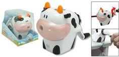Portable Cartoon Milch Cow Manual Pencil Sharpener