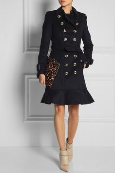 BURBERRY LONDON Wool and cashmere-blend trench coat $1,395