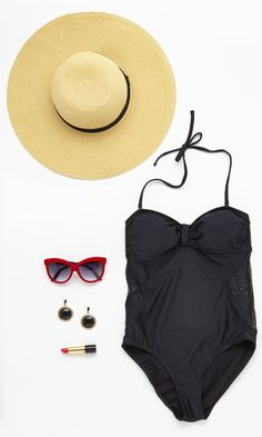 All the necessary items for a trip to the beach!