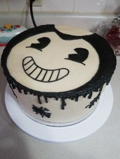 Bendy and the ink machine cake Party ideas Pinterest Cake and