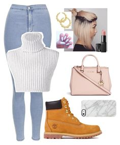 """Untitled #11"" by swarren52555 on Polyvore featuring Timberland, Michael Kors, NARS Cosmetics, Thalia Sodi, Topshop, Uncommon and Baja East"