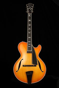 Collings City Limits Jazz Archtop guitar Shown with Amber Sunburst