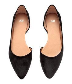 Ballet Flats in Black | H&M US $18