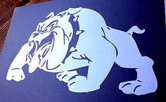 high detail airbrush stencil british bulldog FREE UK  POSTAGE