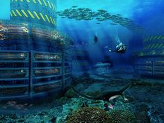 Underwater - Grand Cancun Eco Island Cleans Up the Ocean While Generating Renewable Energy [Future Energy: http://futuristicnews.com/category/future-energy/ Future Architecture: http://futuristicnews.com/category/future-architecture/]