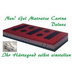 Im Matratzen Shop finden Sie die Matratze Carina Deluxe, deren Härtegrad Sie selbst bestimmen. Die dazu gehörigen Matratzenauflagen schützen Ihre Matratzen. Carina, Mattresses