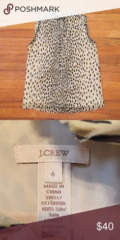 EUC J.Crew Leopard Blouse | Size 6 Worn just once and in perfect condition. J. Crew Tops Blouses