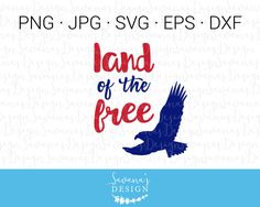 Land of the free cut file! #svg #freedom #diy #cricut #silhouette #cutfile #eagle #fourthofjuly #4thofjuly #july4  https://www.etsy.com/listing/534301929/land-of-the-free-svg-eagle-svg-svg?utm_campaign=crowdfire&utm_content=crowdfire&utm_medium=social&utm_source=pinterest