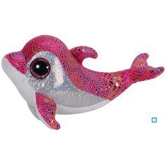 Ty Beanie Boos Sparkles the Pink Dolphin Plush Beanie Baby Plush Stuffed Doll Toy Collectible Soft Big Eyes Plush Toys Large Beanie Boos, Beanie Boo Dogs, Rare Beanie Babies, Beanie Buddies, Slouch Beanie, Ty Beanie Boos Collection, Ty Peluche, Ty Animals, Plush Animals