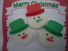 Handmade Soaps 2.50. A gift idea by janet randle found on MyOwnCreation.co.uk: lovely snowman soaps, made with goatsmilk and a jelly bean fragrance.cosmetic glitter applied to the brim of the snowmans hat.great gift for children and adults alikeapprox. 6.5cm x 5cm and weighing approx. 38 grams.these are made individually and will vary slightlylisting is for 1 soap