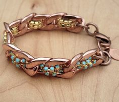 {Turquoise & Rose Bracelet} muses and rebels - gorgeous!
