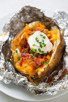 """Slow-Cooker """"Baked"""" Potatoes —come home to perfectly fluffy baked potatoes"""
