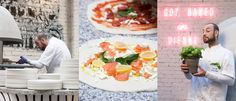 The new downtown pizza restaurant Kitch serves up pimped Neapolitan with industrial chic Pizza Restaurant, Served Up, Industrial Chic, Fresh Rolls, Menu, Urban, Ethnic Recipes, Food, Gourmet