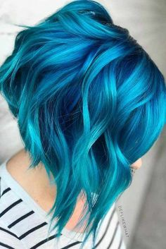 Fairy Blue Ombre Hair for Beautiful Girls ★ See more: http://glaminati.com/fairy-blue-ombre-hair-beautiful-girls/ Ombre Hair Color, Blue Hair Colors, Ombre Hair Rainbow, Blue Ombre Nails, Colored Short Hair, Short Dyed Hair, Short Blue Hair, Dyed Hair Blue, Blue Haired Girl
