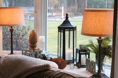 decorating a bay window ledge | Shine Your Light: Styling Bay Window Sills