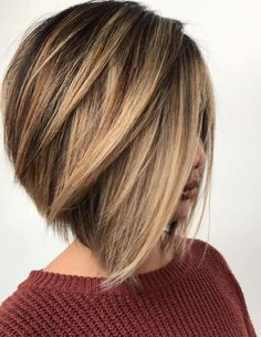 35 hottest bob haircuts & bob hairstyle trends to try now - bob hairstyles, medi. - 35 hottest bob haircuts & bob hairstyle trends to try now – bob hairstyles, medium bob haircut, b - Brown Blonde Hair, Brown Hair With Highlights, Light Brown Hair, Brown Hair Colors, Grey Hair, Brown Hair Bobs, Brown Hair Short Bob, Baylage Short Hair, Angled Bob With Layers