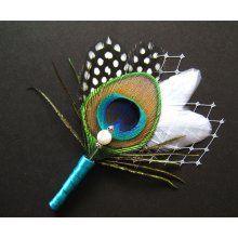 #peacock boutounniere