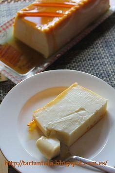TARTANTULA: Tarta asturiana de queso Flan, Spanish Desserts, Spanish Dishes, Cuban Recipes, Sweet Recipes, Delicious Deserts, Yummy Food, No Bake Desserts, Dessert Recipes
